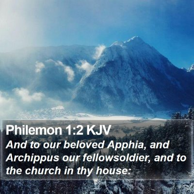 Philemon 1:2 KJV Bible Verse Image