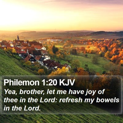 Philemon 1:20 KJV Bible Verse Image