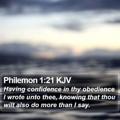 Philemon 1:21 KJV Bible Verse Image