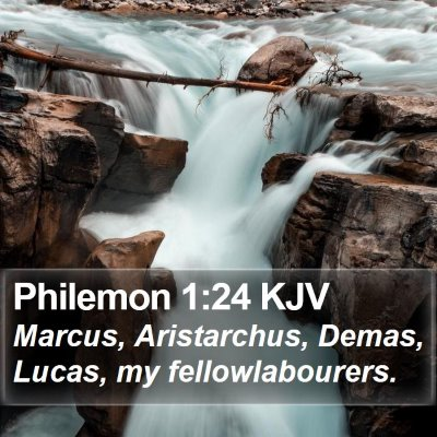 Philemon 1:24 KJV Bible Verse Image