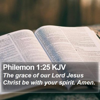 Philemon 1:25 KJV Bible Verse Image