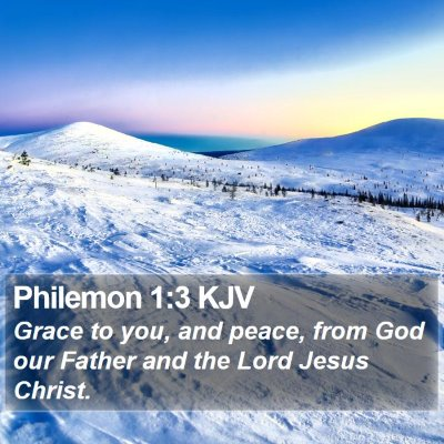 Philemon 1:3 KJV Bible Verse Image