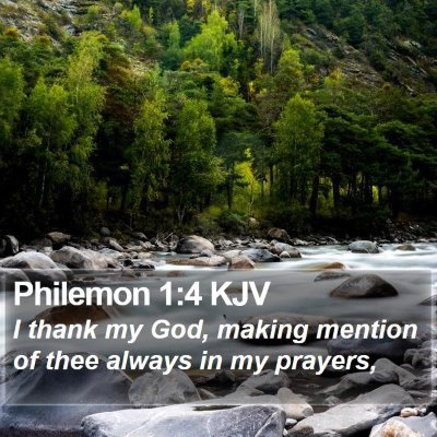 Philemon 1:4 KJV Bible Verse Image