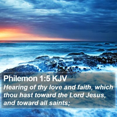 Philemon 1:5 KJV Bible Verse Image
