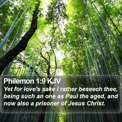 Philemon 1:9 KJV Bible Verse Image