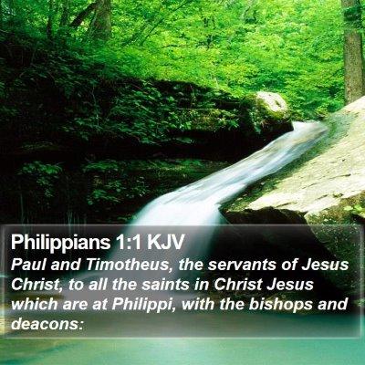 Philippians 1:1 KJV Bible Verse Image