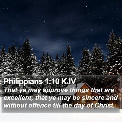 Philippians 1:10 KJV Bible Verse Image