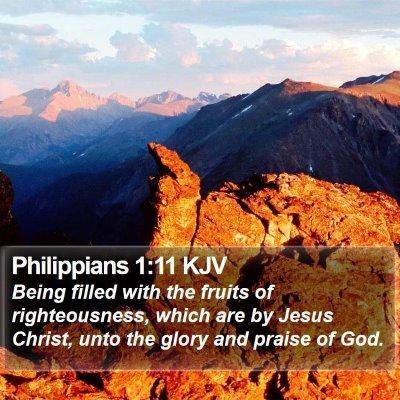 Philippians 1:11 KJV Bible Verse Image