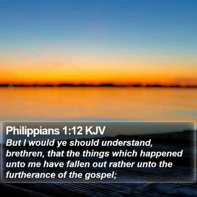 Philippians 1:12 KJV Bible Verse Image