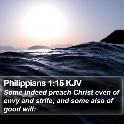 Philippians 1:15 KJV Bible Verse Image
