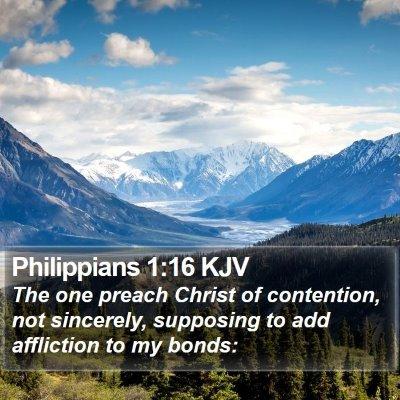 Philippians 1:16 KJV Bible Verse Image