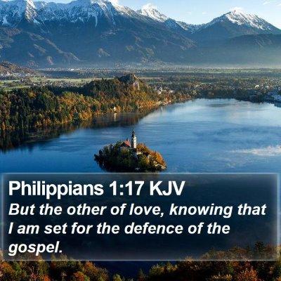 Philippians 1:17 KJV Bible Verse Image
