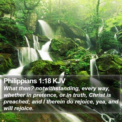 Philippians 1:18 KJV Bible Verse Image