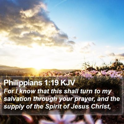 Philippians 1:19 KJV Bible Verse Image