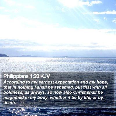 Philippians 1:20 KJV Bible Verse Image