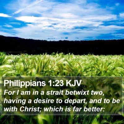 Philippians 1:23 KJV Bible Verse Image