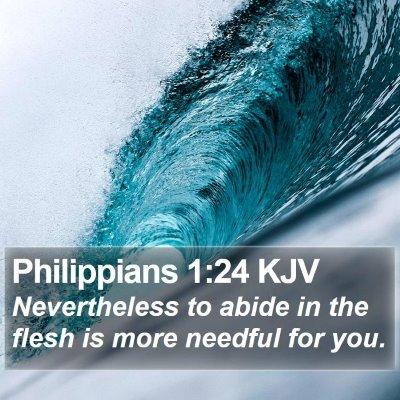 Philippians 1:24 KJV Bible Verse Image