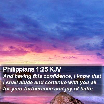 Philippians 1:25 KJV Bible Verse Image