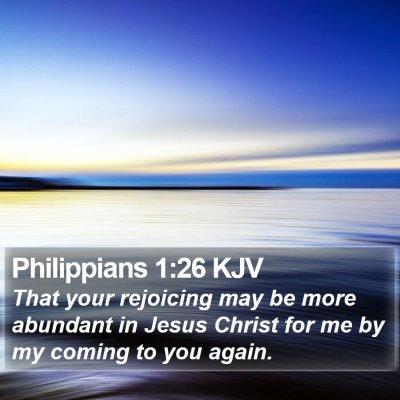 Philippians 1:26 KJV Bible Verse Image