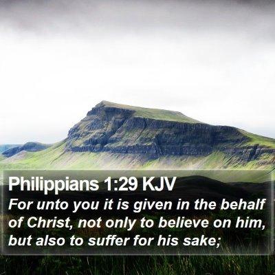 Philippians 1:29 KJV Bible Verse Image