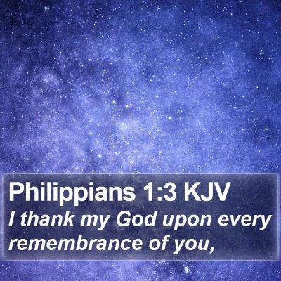 Philippians 1:3 KJV Bible Verse Image
