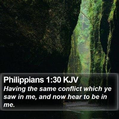 Philippians 1:30 KJV Bible Verse Image