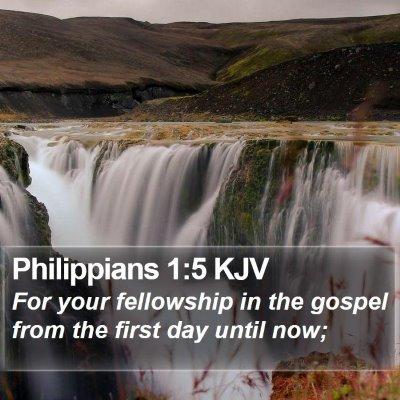 Philippians 1:5 KJV Bible Verse Image