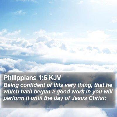 Philippians 1:6 KJV Bible Verse Image