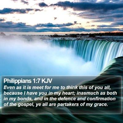 Philippians 1:7 KJV Bible Verse Image