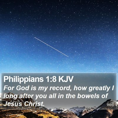 Philippians 1:8 KJV Bible Verse Image