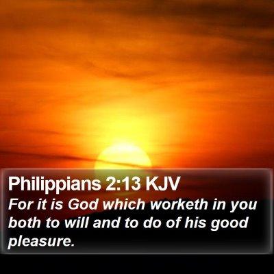 Philippians 2:13 KJV Bible Verse Image