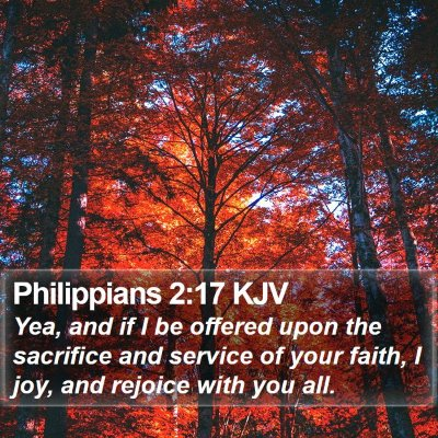 Philippians 2:17 KJV Bible Verse Image