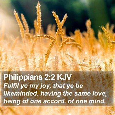 Philippians 2:2 KJV Bible Verse Image