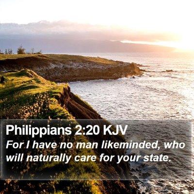 Philippians 2:20 KJV Bible Verse Image