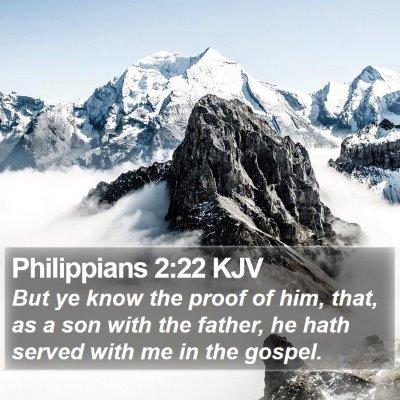 Philippians 2:22 KJV Bible Verse Image
