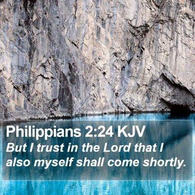 Philippians 2:24 KJV Bible Verse Image