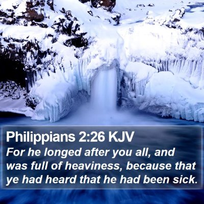 Philippians 2:26 KJV Bible Verse Image