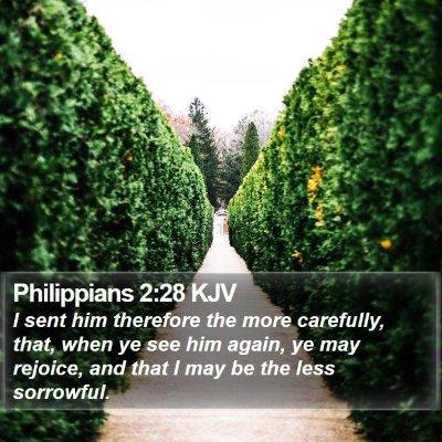 Philippians 2:28 KJV Bible Verse Image