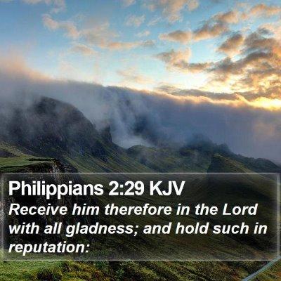 Philippians 2:29 KJV Bible Verse Image