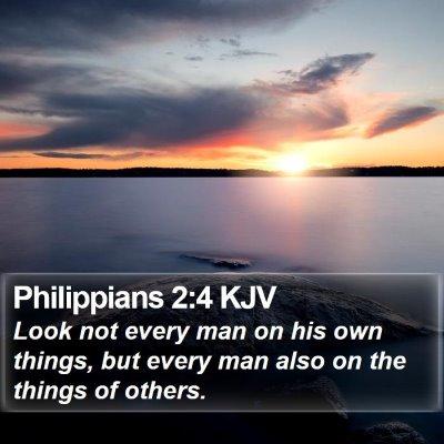 Philippians 2:4 KJV Bible Verse Image