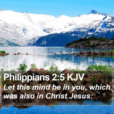 Philippians 2:5 KJV Bible Verse Image