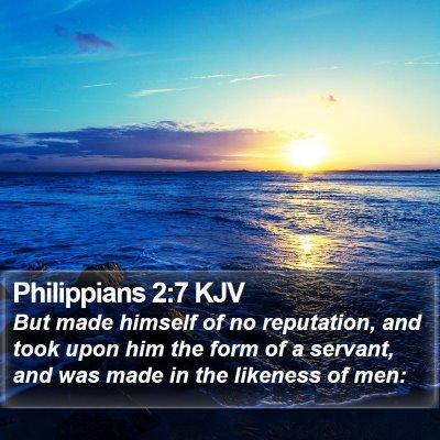 Philippians 2:7 KJV Bible Verse Image