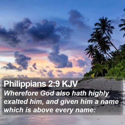 Philippians 2:9 KJV Bible Verse Image