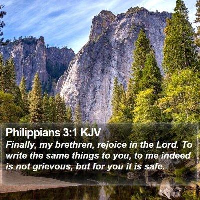 Philippians 3:1 KJV Bible Verse Image