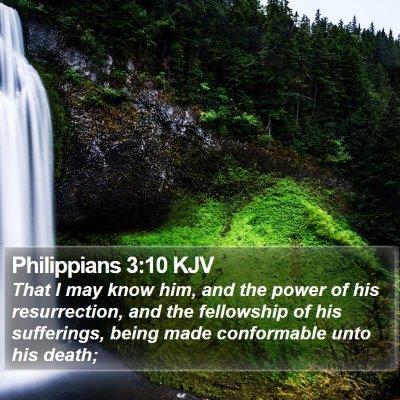 Philippians 3:10 KJV Bible Verse Image