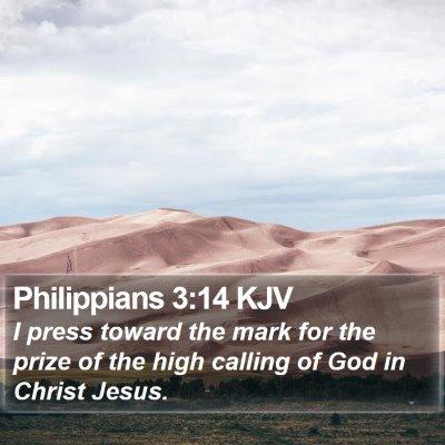Philippians 3:14 KJV Bible Verse Image