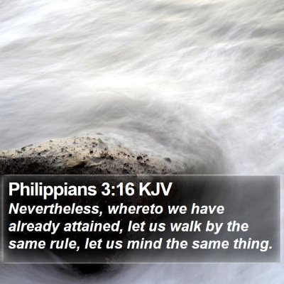 Philippians 3:16 KJV Bible Verse Image