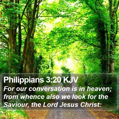 Philippians 3:20 KJV Bible Verse Image