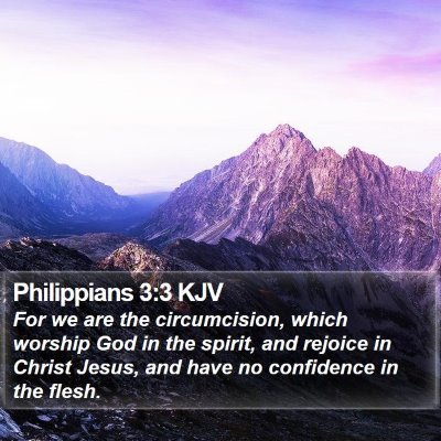 Philippians 3:3 KJV Bible Verse Image