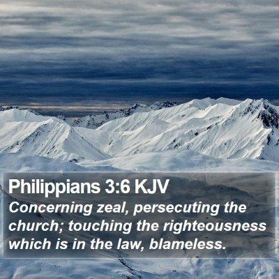 Philippians 3:6 KJV Bible Verse Image